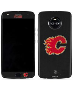 Calgary Flames Distressed Moto X4 Skin