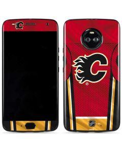 Calgary Flames Home Jersey Moto X4 Skin