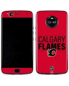 Calgary Flames Lineup Moto X4 Skin