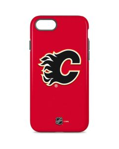 Calgary Flames Solid Background iPhone 8 Pro Case