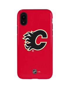 Calgary Flames Solid Background iPhone XR Pro Case