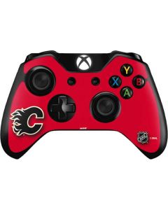 Calgary Flames Solid Background Xbox One Controller Skin