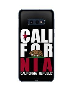 California Black Block Galaxy S10e Skin