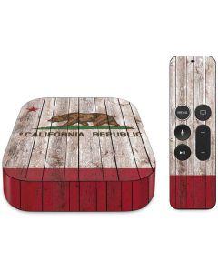 California Flag Dark Wood Apple TV Skin