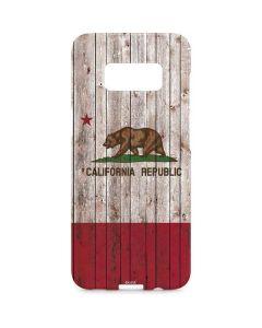 California Flag Dark Wood Galaxy S8 Plus Lite Case