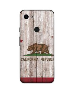 California Flag Dark Wood Google Pixel 3a Skin