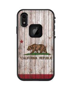 California Flag Dark Wood LifeProof Fre iPhone Skin