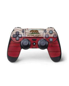 California Flag Dark Wood PS4 Pro/Slim Controller Skin