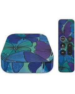 California Watercolor Butterflies Apple TV Skin