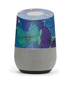 California Watercolor Butterflies Google Home Skin