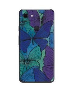 California Watercolor Butterflies Google Pixel 3 XL Skin
