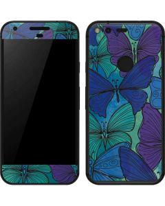 California Watercolor Butterflies Google Pixel Skin