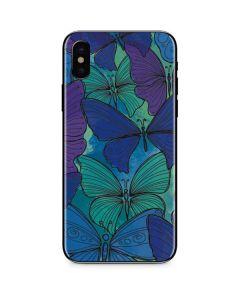 California Watercolor Butterflies iPhone XS Max Skin