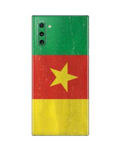 Cameroon Flag Distressed Galaxy Note 10 Skin