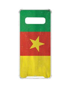 Cameroon Flag Distressed Galaxy S10 Clear Case
