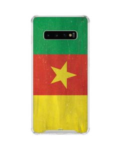 Cameroon Flag Distressed Galaxy S10 Plus Clear Case