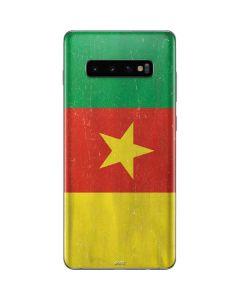 Cameroon Flag Distressed Galaxy S10 Plus Skin