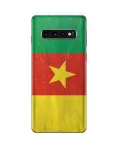 Cameroon Flag Distressed Galaxy S10 Skin