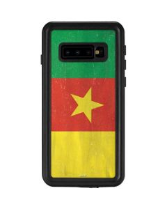 Cameroon Flag Distressed Galaxy S10 Waterproof Case