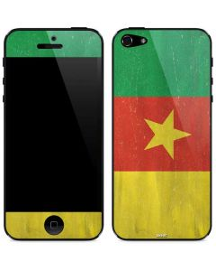 Cameroon Flag Distressed iPhone 5/5s/SE Skin