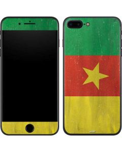 Cameroon Flag Distressed iPhone 7 Plus Skin