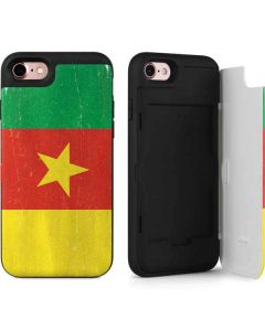 Cameroon Flag Distressed iPhone 7 Wallet Case