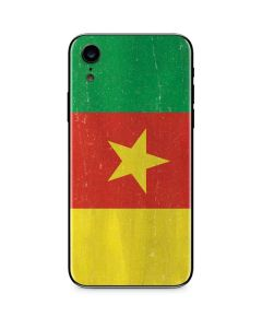 Cameroon Flag Distressed iPhone XR Skin