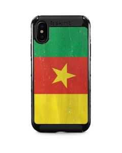 Cameroon Flag Distressed iPhone XS Max Cargo Case