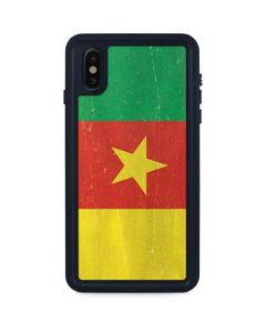 Cameroon Flag Distressed iPhone XS Max Waterproof Case