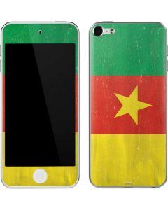 Cameroon Flag Distressed Apple iPod Skin