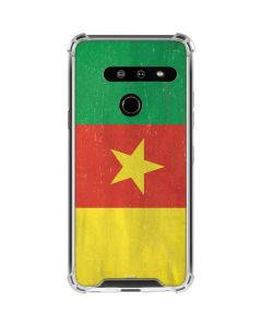 Cameroon Flag Distressed LG G8 ThinQ Clear Case