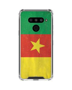 Cameroon Flag Distressed LG V50 ThinQ Clear Case