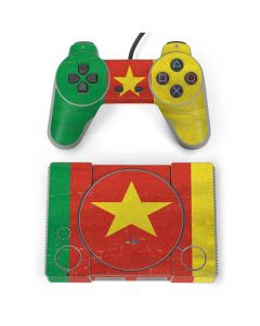 Cameroon Flag Distressed PlayStation Classic Bundle Skin