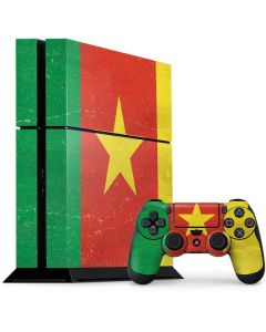 Cameroon Flag Distressed PS4 Console and Controller Bundle Skin