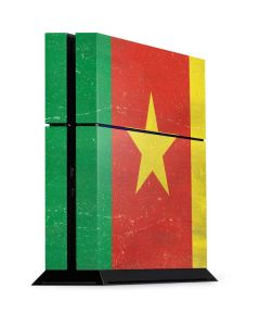 Cameroon Flag Distressed PS4 Console Skin
