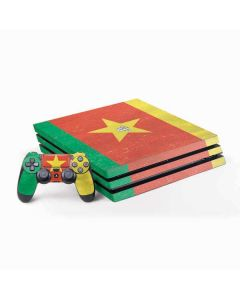Cameroon Flag Distressed PS4 Pro Bundle Skin