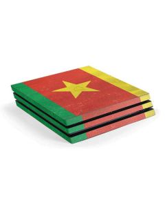 Cameroon Flag Distressed PS4 Pro Console Skin
