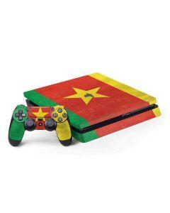 Cameroon Flag Distressed PS4 Slim Bundle Skin
