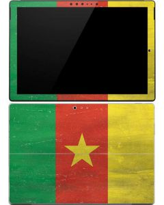 Cameroon Flag Distressed Surface Pro 4 Skin