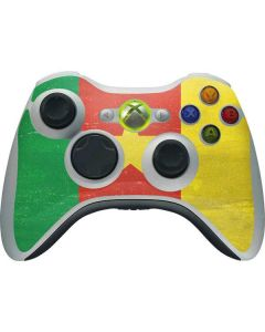 Cameroon Flag Distressed Xbox 360 Wireless Controller Skin