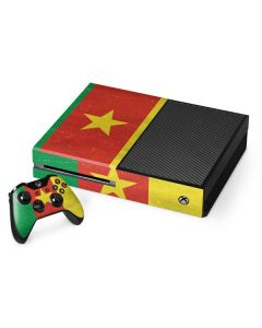 Cameroon Flag Distressed Xbox One Console and Controller Bundle Skin