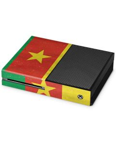 Cameroon Flag Distressed Xbox One Console Skin