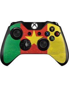 Cameroon Flag Distressed Xbox One Controller Skin