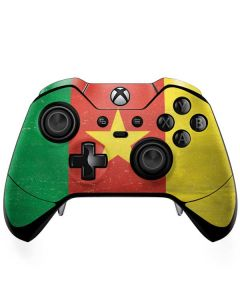 Cameroon Flag Distressed Xbox One Elite Controller Skin