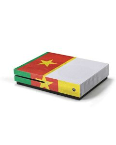 Cameroon Flag Distressed Xbox One S Console Skin