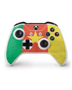Cameroon Flag Distressed Xbox One S Controller Skin