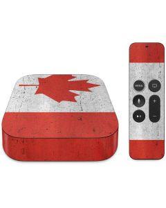 Canada Flag Distressed Apple TV Skin
