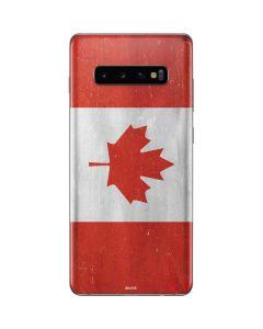 Canada Flag Distressed Galaxy S10 Plus Skin