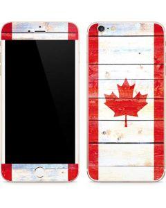 Canada Flag Light Wood iPhone 6/6s Plus Skin