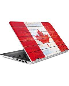 Canada Flag Light Wood HP Pavilion Skin